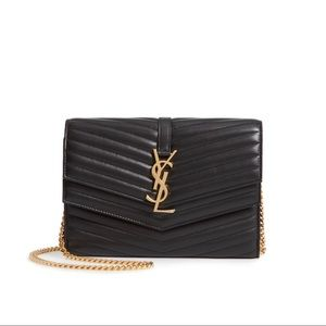 Saint Laurent YSL Sulpice Quilted Wallet On Chain